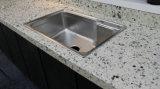 Prefab белая верхняя часть стенда кухни камня кварца для самомоднейшей конструкции