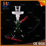 Tubulações de fumo de vidro de Shisha com o cachimbo de água de couro da caixa