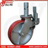 """poliuretano rojo 6 """" X2 """" en los echadores del andamio de la rueda del arrabio"""