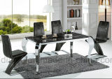 Présidence en cuir moderne de loisirs d'acier inoxydable d'unité centrale (B882)