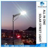 40W mono sensore cristallino tutto di menzione del comitato solare PIR in un indicatore luminoso di via solare del LED