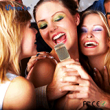 Estilo Handheld del micrófono y micrófono casero del uso del Karaoke
