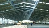 Almacén prefabricado de la estructura de acero del diseño de la construcción de la tela