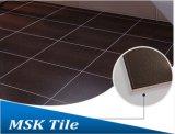 mattonelle di pavimento rustiche Leather-Look nere 600X600