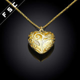 Collana Pendant Heart-Shaped della CZ dei monili di modo per le donne