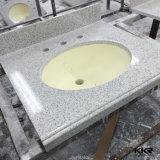Lowesの浴室のカウンタートップの固体表面の浴室の虚栄心の上