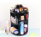 360 da capacidade grande Tabletop cosmética do armazenamento de /Revolving composições pretas à moda de giro/organizador cosmético