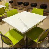 Conjunto superior superficial sólido de acrílico del vector de cena del Faux de 4 asientos
