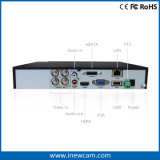 4CH 3MP/1080P/720p TviかAhdか960h HVR