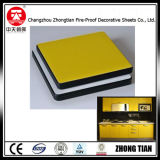 Encimera amarilla del laminado del compacto
