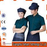Uniforme de serveur de restaurant d'aliments de préparation rapide de coton et de polyester