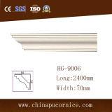 7cmhigh品質の明るい表面の平野PUのコーニスの鋳造物はギプスの鋳造物の取り替える
