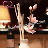 Heißer Verkaufs-Ausgangsduft-Luft-Erfrischungsmittel-REEDdiffuser (zerstäuber) mit Rattan-Stöcken und Sola Blume in der keramischen Flasche
