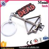 Metal colorido brilhante niquelado metal lembrança esmalte duro Keychain