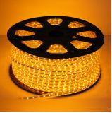 SMD3528 60LEDs/M 120LEDs/M AC230V aquecem a tira flexível branca do diodo emissor de luz