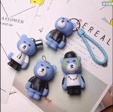 Corrente chave personalizada da resina dos desenhos animados do presente estilo relativo à promoção