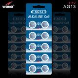 Batteria alcalina AG13 della vigilanza delle cellule del tasto