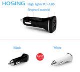 5V 3.4A는 백색 고품질 USB 차 충전기 검정 이중으로 하고 비용을 부과 속도 iPhone를 위한 단식한다