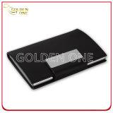 Caixa de couro elegante e elegante do cartão do plutônio