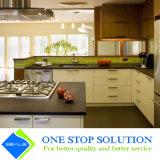 Alto armadietto degli armadi da cucina di rivestimento della lacca di lucentezza di colore bianco e nero (ZY 1130)
