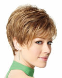 Women 브라운 Short Wavy Fluffy Layered Wig Clearance Sale를 위한 매혹 Short Synthetic Wigs