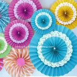 Os Rosettes do casamento/os ventiladores de papel papel de tecido/tecido de suspensão ventilam Rosettes