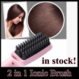 2 in 1 PTC Heating Hair Straightener Brush