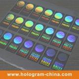 De transparante 3D Sticker van het Hologram van de Laser van de Veiligheid
