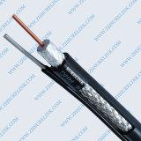 Cobre de 75 ohmios o cable coaxial RG6 de CCS con el mensajero