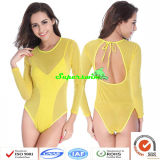 한 조각 Sexy Fluorescent Swimwears 또는 형광성 수영복 숙녀의
