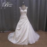 Applique цвета слоновой кости сатинировки хорошего качества платье Bridal