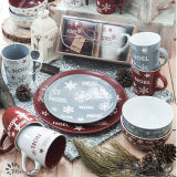 빨간 Grey Little Star Merry Christmas Day 12oz Mug