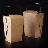 WegwerfPACKPAPIER-Nudel-Kasten-Mittagessen-Kasten mit runder Unterseite