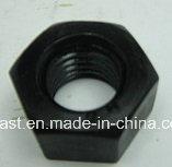 Schwarze schwere Sechskantmutter des Ende-ASTM A194 2h