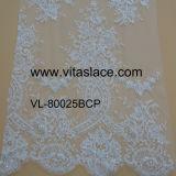 中国SuppierのウェディングドレスVL- 6011BCのための流行の花嫁のレースファブリック