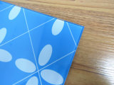 5mm Blue Printing Tempered Glass Toughened Glass