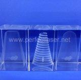 Máquina de grabado modificada para requisitos particulares del laser cristalino 3D para la pequeña empresa