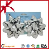 Arco della stella del nastro tessuto la Cina i nastri a forma di stella per la decorazione