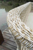 Sofá modular de la rota de los muebles de mimbre al aire libre Ultravioleta-Resistace