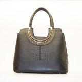 De zwarte Handtas Van uitstekende kwaliteit van het Leer van de Totalisator van de Vrouwen van de Ontwerper van de Kleur