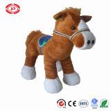 Jouet debout de mascotte de peluche molle de fantaisie animale neuve de cheval