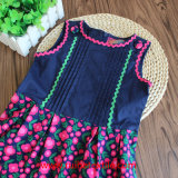 Хлопок Non Sleeve Flower Dress для Girl