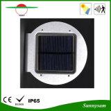 2016 Nuevo producto de iluminación exterior Alto brillo 16 LED de energía solar Jardín lámpara de radar Sensor de movimiento de luz de pared solar