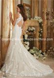 Mori Lee Tulle Satin Lace Mermaid Cruz Voltar Morilee vestido de casamento (Dream-100067)