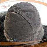 O Afro humano do cabelo preto de Remy do Virgin longo ondula a peruca cheia do laço