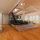 Household&Commercial Oberlicht-fester Strabd gesponnener Bambusbodenbelag