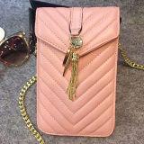 El teléfono de cuero de las mujeres del cuero genuino empaqueta el bolso Emg4560 del hombro