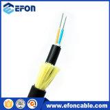 Cable de Optica Fibra del modo de la armadura 24/48/96/144/288core Singel del hilado de ADSS Kevlar
