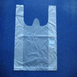 Sacchetto di plastica della maglietta dell'HDPE senza stampa