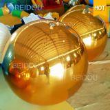 Venta caliente decorativo azul del oro mini Bolas de espejos de plástico mini disco inflable bola de espejo